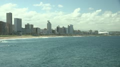 Durban Beachfront Stock Footage