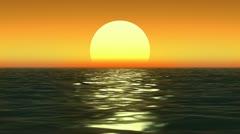 sunset at coast of the sea - stock footage
