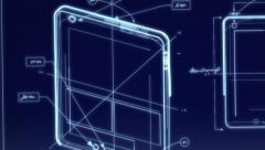 Tablet Computer Technical Design Animaatio Arkistovideo