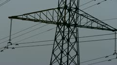 High-voltage wire tower. Stock Footage