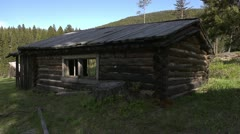 Old log home 01 by dwking Stock Footage