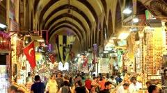 Istanbul Egyptian Bazaar (Spice Market) - stock footage