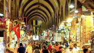Stock Video Footage of Istanbul Egyptian Bazaar (Spice Market)