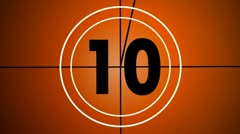Countdown old version 14 Stock Footage