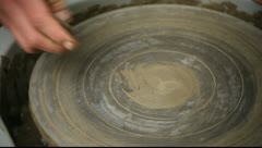 Pottery Class Workshop Clay Shaping Stock Footage