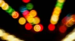 Night Carnival Ride Lights- Medium Speed Stock Footage