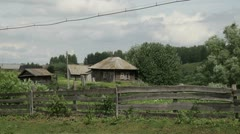 Old house village-001 Stock Footage
