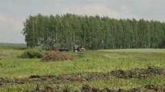 tractor in the field - stock footage