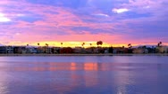 Stock Video Footage of Beach House Sunset- Alamitos Bay, Long Beach CA 3