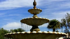 Old Style Tiered Fountain- Naples Island, Long Beach, CA Stock Footage