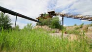 Abandoned quarry,  panorama Stock Footage