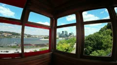Inside the Duquesne Incline Timelapse 2496 Stock Footage