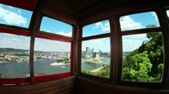 Inside the Duquesne Incline 2495 - stock footage