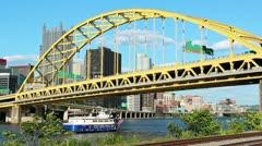 Fort Pitt Bridge 2498 Stock Footage