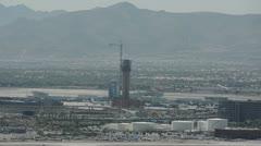 Las Vegas airport tower Stock Footage