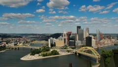 4K Ultra HD Pittsburgh Skyline Time Lapse Stock Footage