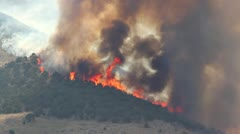 Raging Fire Burning Mountain Stock Footage