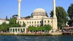 Beylerbeyi Coast, Bosporus, Istanbul Stock Footage
