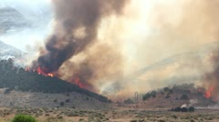 Huge Forest Fire Wide Shot - stock footage