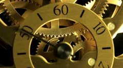Complex movement of a modern wind-up watch - stock footage