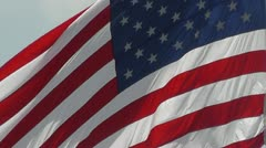 United States Flag Closeup - Old Glory - USA Stock Footage