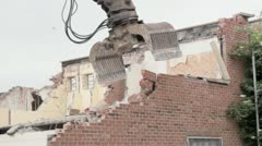 Demolishing old building Stock Footage