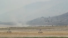 Dry Crops in a Dustbowl Stock Footage