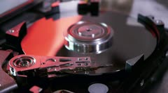 Hard Disk Drive Reading (HD) Stock Footage