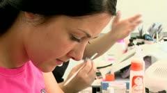 Manicure Close-up Stock Footage
