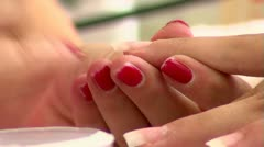 Manicure Close-up Stock Footage