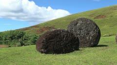 Rapa Nui Puna Pau top hats Stock Footage