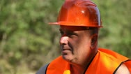 Stock Video Footage of Thinking Construction Engineer, Resting Worker