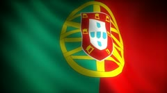 Flag of Portugal (seamless) Stock Footage