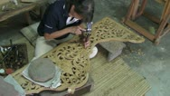 Stock Video Footage of Wood Carving in Thailand