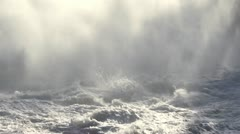 Rough Water and Mist 01 - stock footage