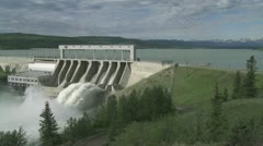 Hydro electric power dam - stock footage