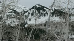 Rocky Mountains in Winter - stock footage