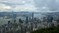 Hong Kong skyline T/L - stock footage
