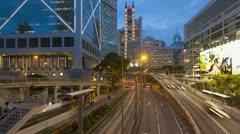 Hong Kong streetscene T/L Stock Footage