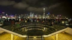 Hong Kong nightscene T/L - stock footage