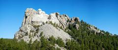 mount rushmore monument in south dakota - stock photo