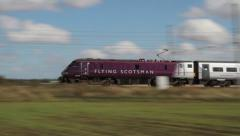 The Flying Scotsman Train Stock Footage