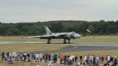 Avro Vulcan Bomber XH558 Stock Footage
