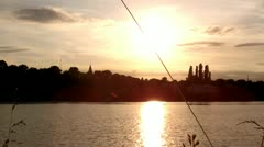Rhine cologne Niehl Habour Stock Footage