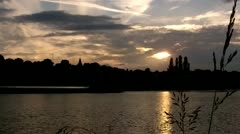 Rhine cologne Niehl Habour Time Lapse Stock Footage