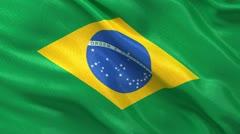 Seamless loop of Brazilian flag Stock Footage