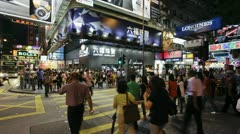 Hong Kong, busy street T/L Stock Footage