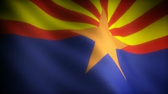 Flag of Arizona (seamless) - stock footage