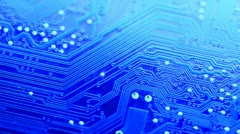 Technology circuit scrolling diagonally Stock Footage