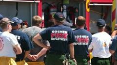 Palomies palomiehet lyhyt Wildfire työstä P HD 0633 Arkistovideo